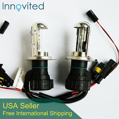 Innovited 35W HID H4-3 9003 8000K Bi xenon Hi/Lo beam HID Replacement Bulbs