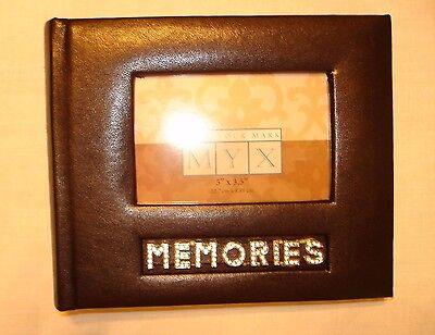 MEMORIES 'Leather' Photo Album Book-Bound Picture Scrapbook 6x8 Slip-In 4x6 Pic