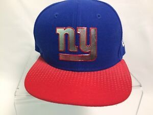8d19da6f Details about NEW ERA 59FIFTY NEW YORK GIANTS ROYAL BLUE WHITE NFL ON FIELD  FITTED 6.5