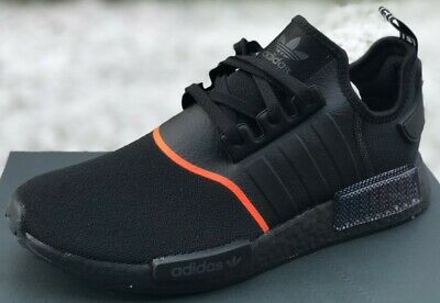 Adidas Originals Nmd R1 Boost Shoes Core Black Solar Red Ee5085