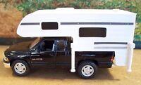 O Scale Black Dodge Ram 1500 Sport With Camper