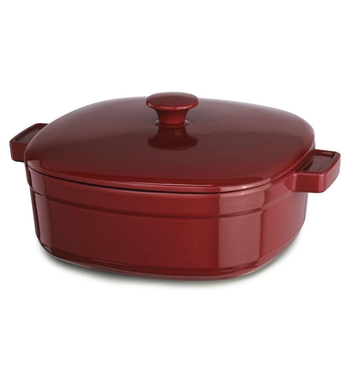 Kitchenaid Hierro Fundido optimizar utensilios de cocina kcli30crer Imperio Rojo 3-quart Cazuela