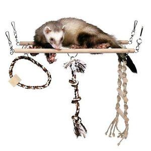 Rope Bridge Perch Swing for Ferrets Hamsters Rats Gerbils Parrots Cockatiels Toy 100 cm