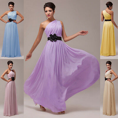 EMPIRE WAIST LONG Evening Formal Party Gowns Prom Bridesmaids Wedding LONG Dress