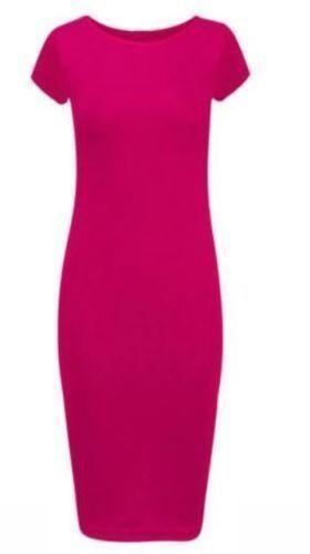 *Brand Ladies Women Bodycon Midi Summer Dress Size S//M 8 /_ 10  M//L 12 /_ 14  *