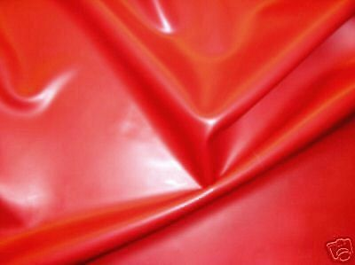 Red Semi-Trans Latex Rubber 0.33mm Thick 92cm Wide