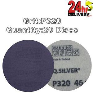 Mirka QSilver 77mm 3034 P320 Grit 20x Plain HookNLoop Sanding Discs - Telford, United Kingdom - Mirka QSilver 77mm 3034 P320 Grit 20x Plain HookNLoop Sanding Discs - Telford, United Kingdom