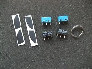 Original New Logitech M950 Teflon mouse Feet and 2 Omron /& Huano Micro switches