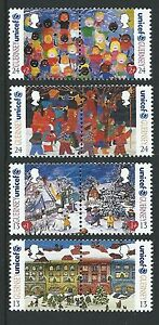 GUERNSEY-1995-CHRISTMAS-SET-OF-8-IN-PAIRS-UNMOUNTED-MINT-MNH