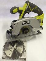 "Ryobi P506 NEW 18V One + Li-Ion NiCd Cordless 5-1/2"" Laser Circular Saw w/ Blade"