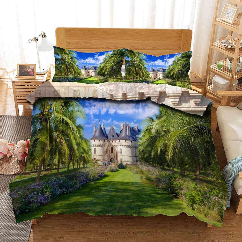 Castle Nice Jungle 3D Printing Duvet Quilt Doona Covers Pillow Case Bedding Sets