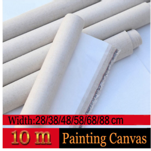 Details about Primed Canvas Roll Blank Linen Blend High Quality Artist Oil  Painting Supplies