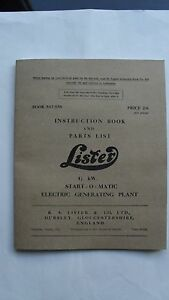 Lister-CS-Type-8-1-Instruction-Book-and-Parts-List-for-4-1-2kW-Start-O-Matic