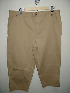6efe38d06e5 White Stag Size 18 (39X22) Tan Khaki Capri Cropped Pants Stretch 19 ...