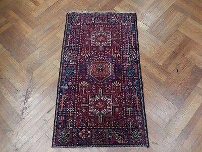 Karaja Estate Hand Woven 3x5 Semi-Antique Rug Shirvan Origin Rug Persian