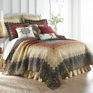 COUNTRY PRIMITIVE FARMHOUSE RUSTIC FOREST STAR QUILT COLLECTION DONNA SHARP