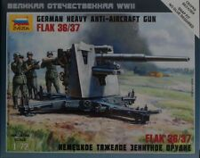 6158 1//72 Scale Zvezda GERMAN FLAK 36//37 AA Gun /& Crew Plastic Model Kit