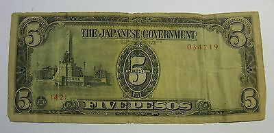 "1941-45 WWII /"" JAPANESE GOVERNMENT 10 PESOS /""PD/"" NOTE~~UNCIRCULATED"