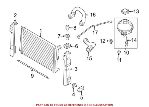 For BMW Genuine Radiator Insulator Lower 17117544550