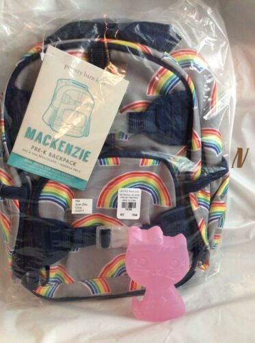 Kitty CAT Ice Pk girl purple School NP Pottery barn Pre K Rainbow Backpack BAG