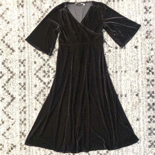 Soft Surroundings Vera Velvet Dress Small Petite C