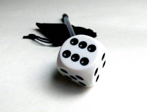 Large White Dice Shooter Rod for Monopoly Pinball Machine