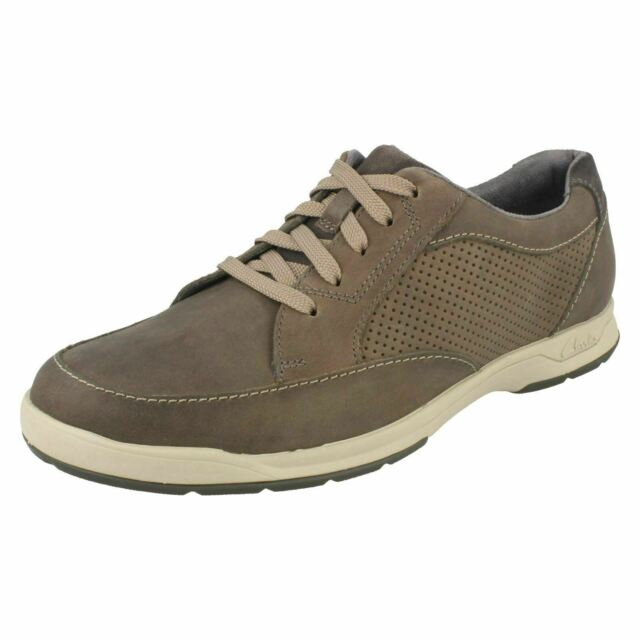 68977717c0f5cf Clarks Stafford Park5 Mens Casual Lace up Leather Shoes Grey Nubuck 8 for  sale online | eBay