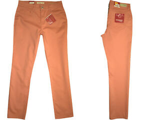 Stooker-Damen-Stretch-Hose-Zermatt-SLIM-FIT-Peach-Flamingo