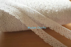 Cotton Lace Ribbon Trim, Craft Wedding Scrapbook Sewing, White, 18 mm, 2 Yards