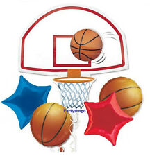 BASKETBALL BIRTHDAY PARTY BALLOONS BOUQUET SUPPLIES DECORATIONS SPORTS HELIUM