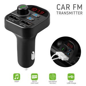 Bluetooth-FM-Transmitter-Auto-MP3-Player-Dual-USB-Charger-Freisprechanlage-TF-SD