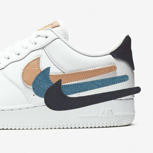 Details about Nike Mens Air Force 1 07 LV8 3 Removable Swoosh Pack AF1  Vachetta Tan CT2253-100
