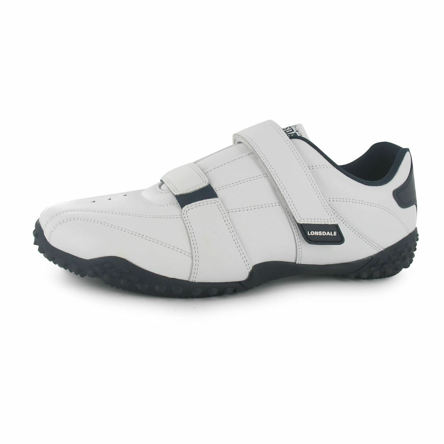Lonsdale Fulham Trainers Mens White/Navy Casual Sneakers Shoes Footwear