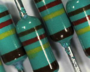 confezione-da-200-120K-1-0-25W-electrosil-Resistore-Rivestimento-Metallico