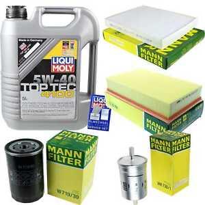 Inspection-Kit-Filter-LIQUI-MOLY-Oil-5L-5W-40-For-VW-Multivan-Volt-7HM-7HN