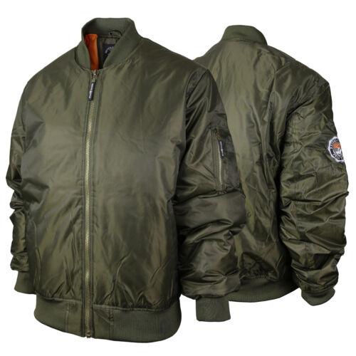 Beverly Hills Polo Club Men/'s Heavyweight MA-1 Flight Bomber Jacket Big Sizes