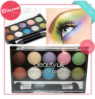 Beauty UK Eye Shadow Eyeshadow Palette Professional 01 PASTELS Makeup NEW/SEALED