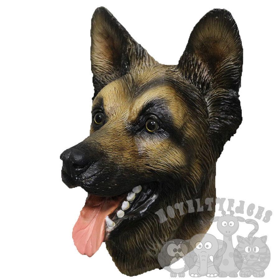 Latex Full Head Animal German Sheperd Dog High Quality Fancy Props Carnival Mask