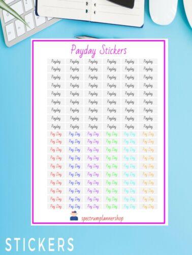 Payday Stickers Planner Sticker  Agenda Stickers