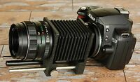Nikon DIGITAL fit Macro Bellows + Prime 50mm Lens for close ups insects coins