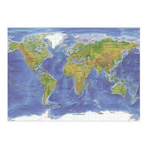 Terrain World Map.World Map Terrain Poster 60x90cm New 9316414069221 Ebay