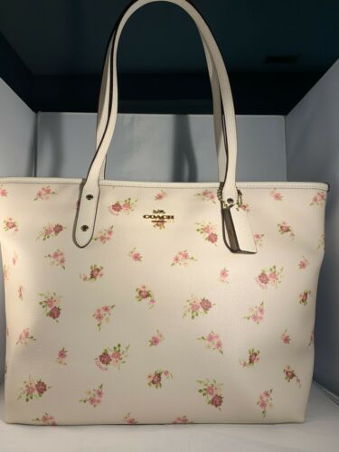 COACH City Tote With Daisy Print F29487