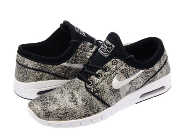 6c5b8668ee873 Nike Stefan Janoski Max PRM Mens Sz 9 Shoes Black White 807497-012
