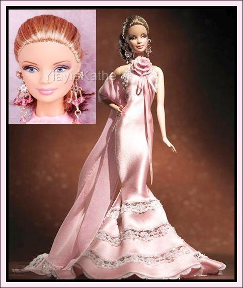 Nuevo Badgley Mischka coleccionista Barbie oro Label J9180