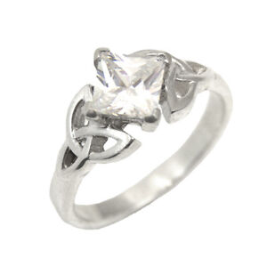 Celtic Trinity Knot Engagement Ring Princess Cut 1.25ct ...