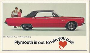 Image Is Loading 1967 Plymouth Fury Iii 4 Door Hardtop Original