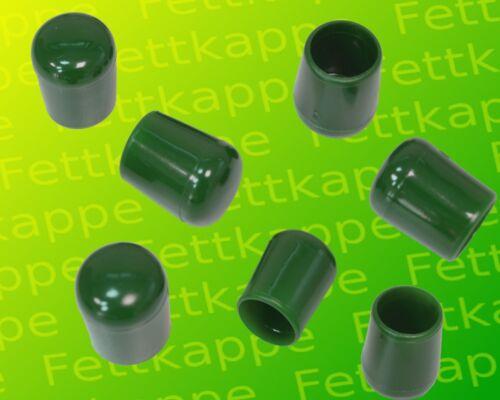 Stäbe Durchmesser 11,8 bis 12,8 mm UV-stabil 100x Kappe grün PVC für Rundrohre