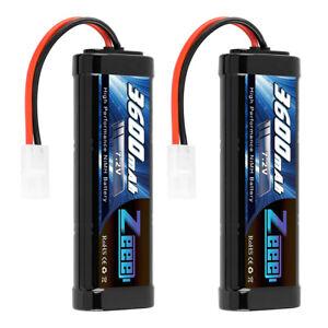 2PCS-ZEEE-7-2V-3600mAh-Ni-MH-Battery-Tamiya-Plug-for-RC-HPI-Kyosho-Car-Truck