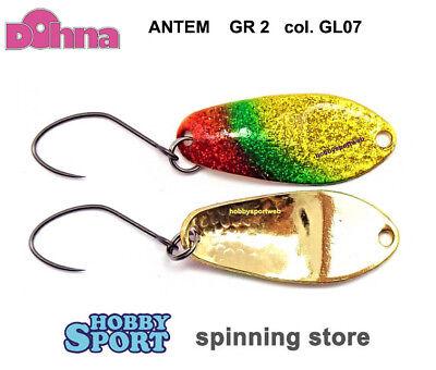 ANTEM SPOON DOHNA  GLITTER  2.5 GR  COL GL12    ONDULANTE JAPAN TROUT AREA SPIN