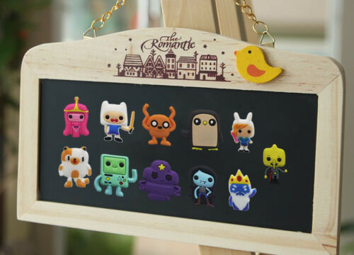11PCS Adventure Time Fridge Blackboard Magnets DIY Refrigerator Stickers as Gift
